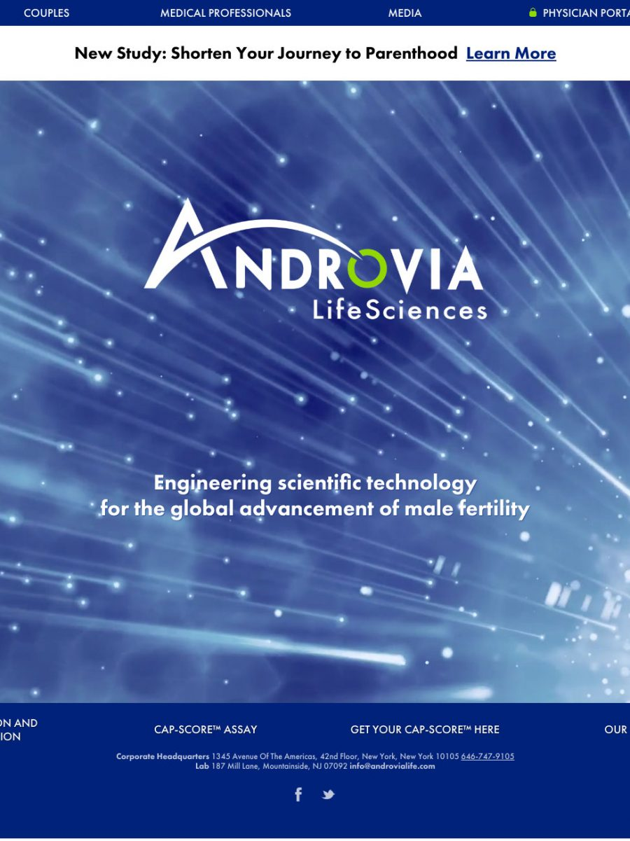 Androvia Life Sciences Homepage