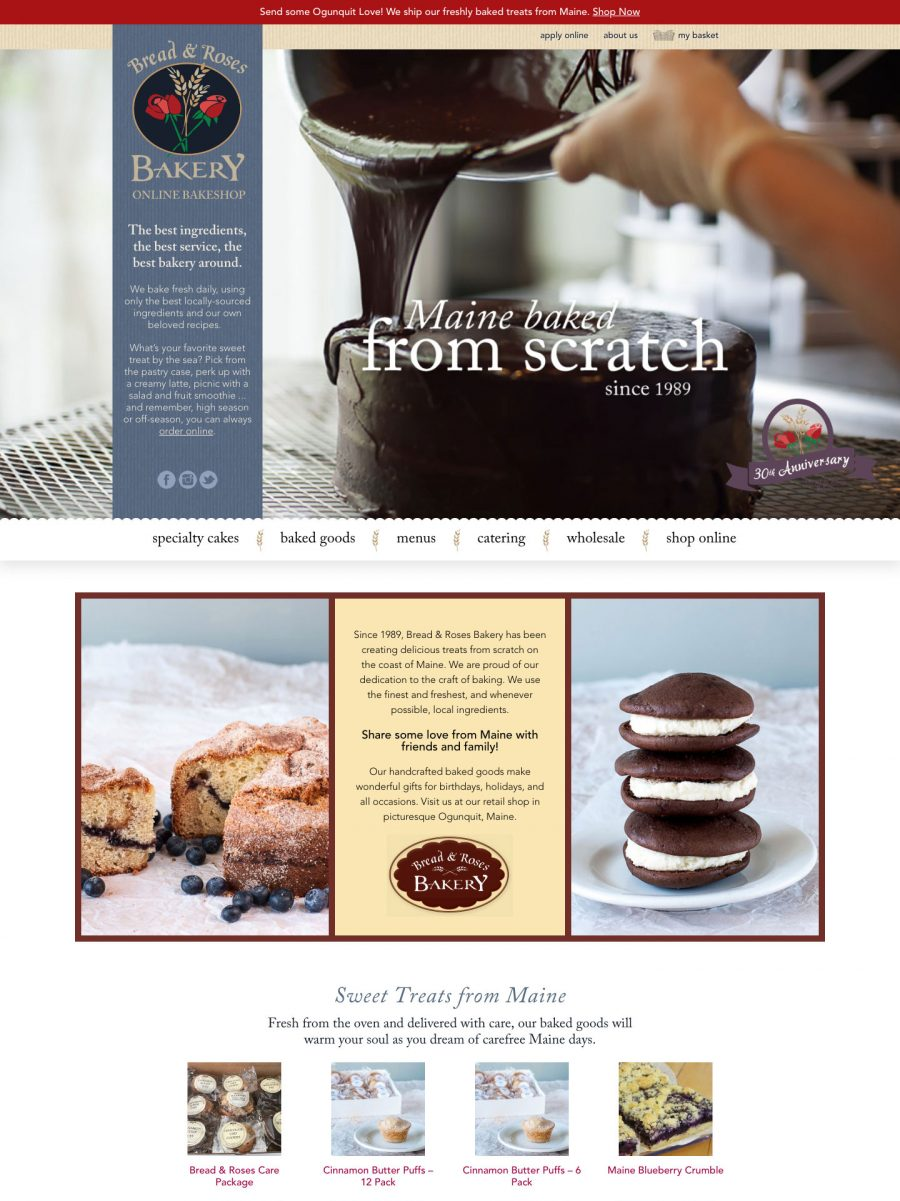 Bread and Roses Bakery Homepage