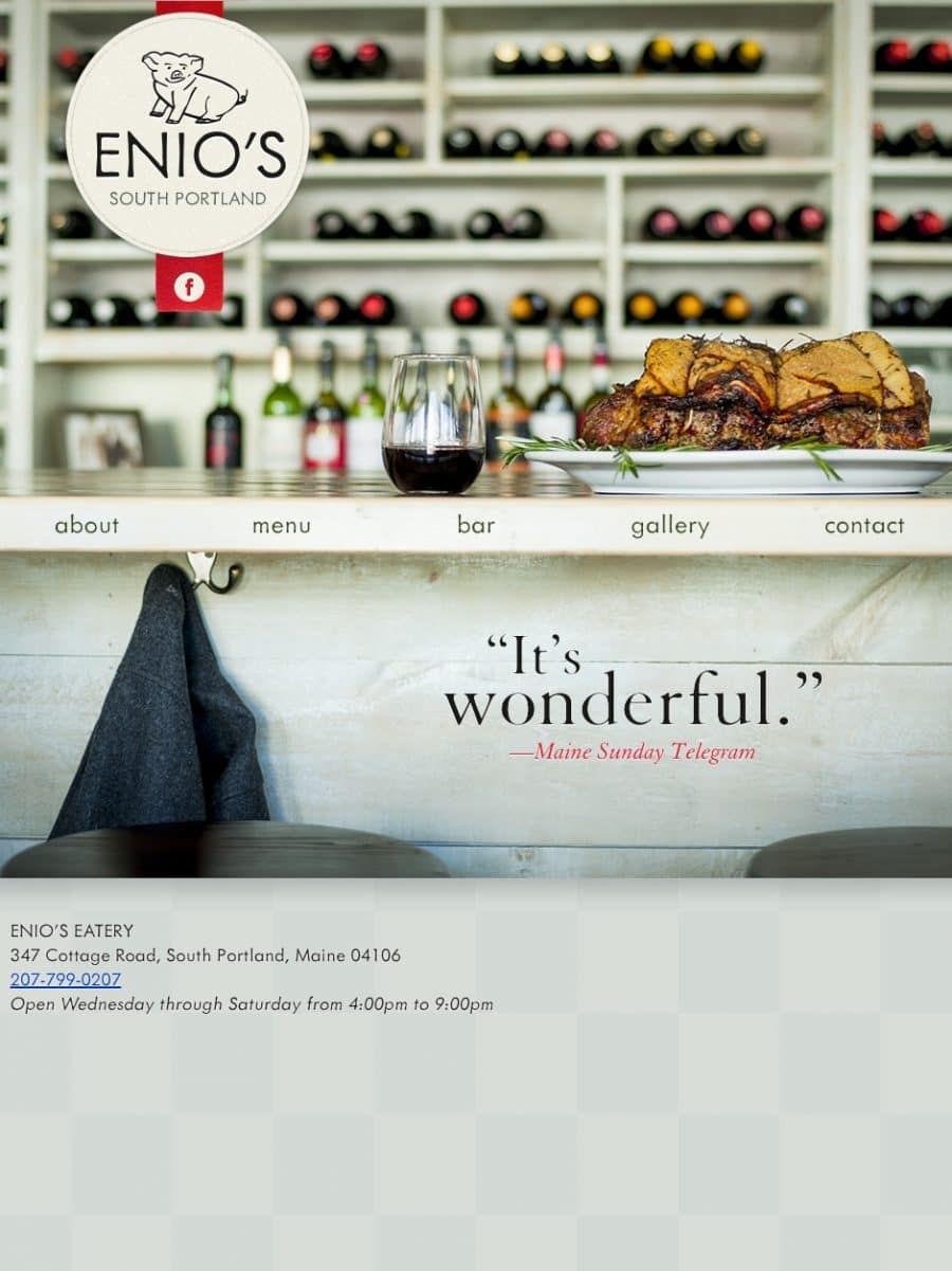Enio's Eatery Homepage