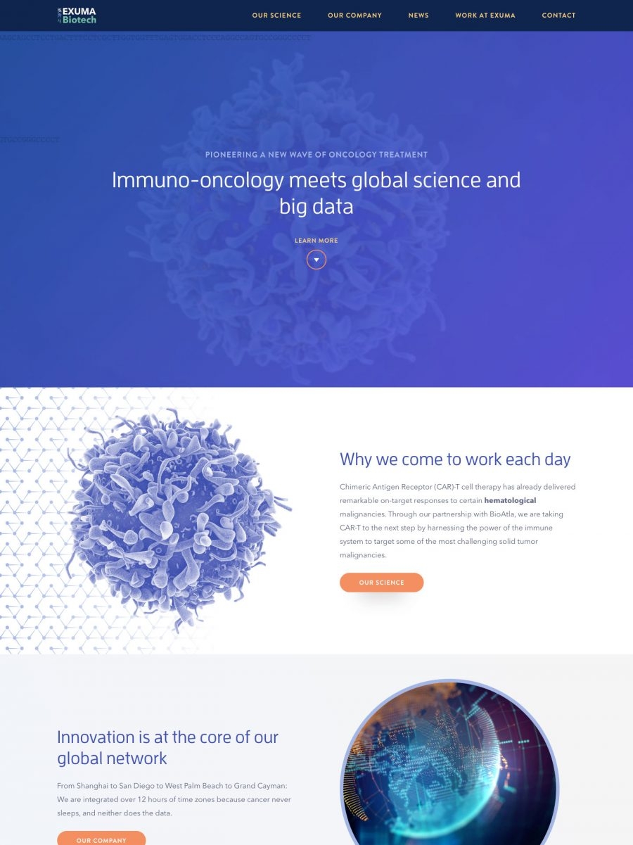 Exuma Biotech Homepage