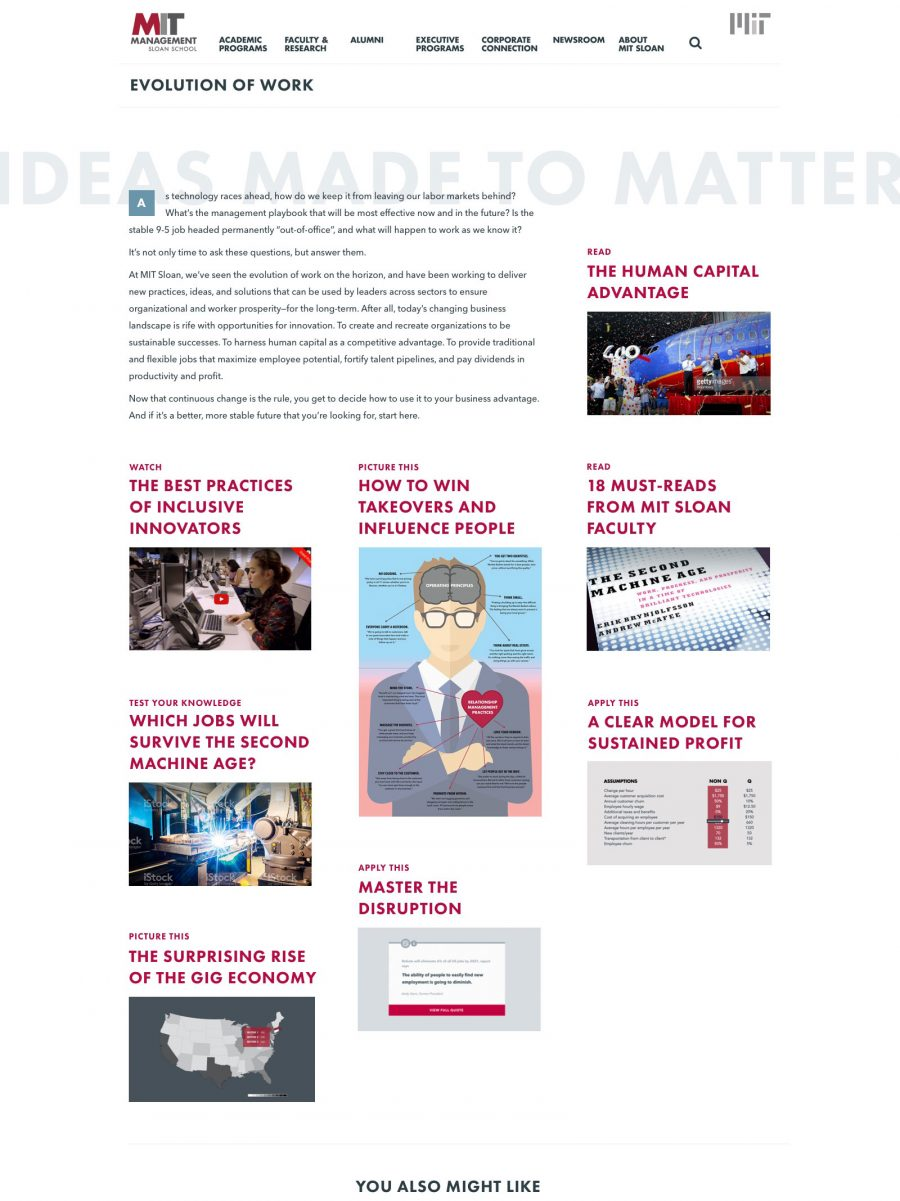 MIT Sloan School of Management Evolution of Work Homepage