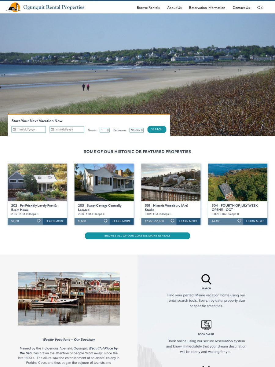 Ogunquit Rental Properties Homepage