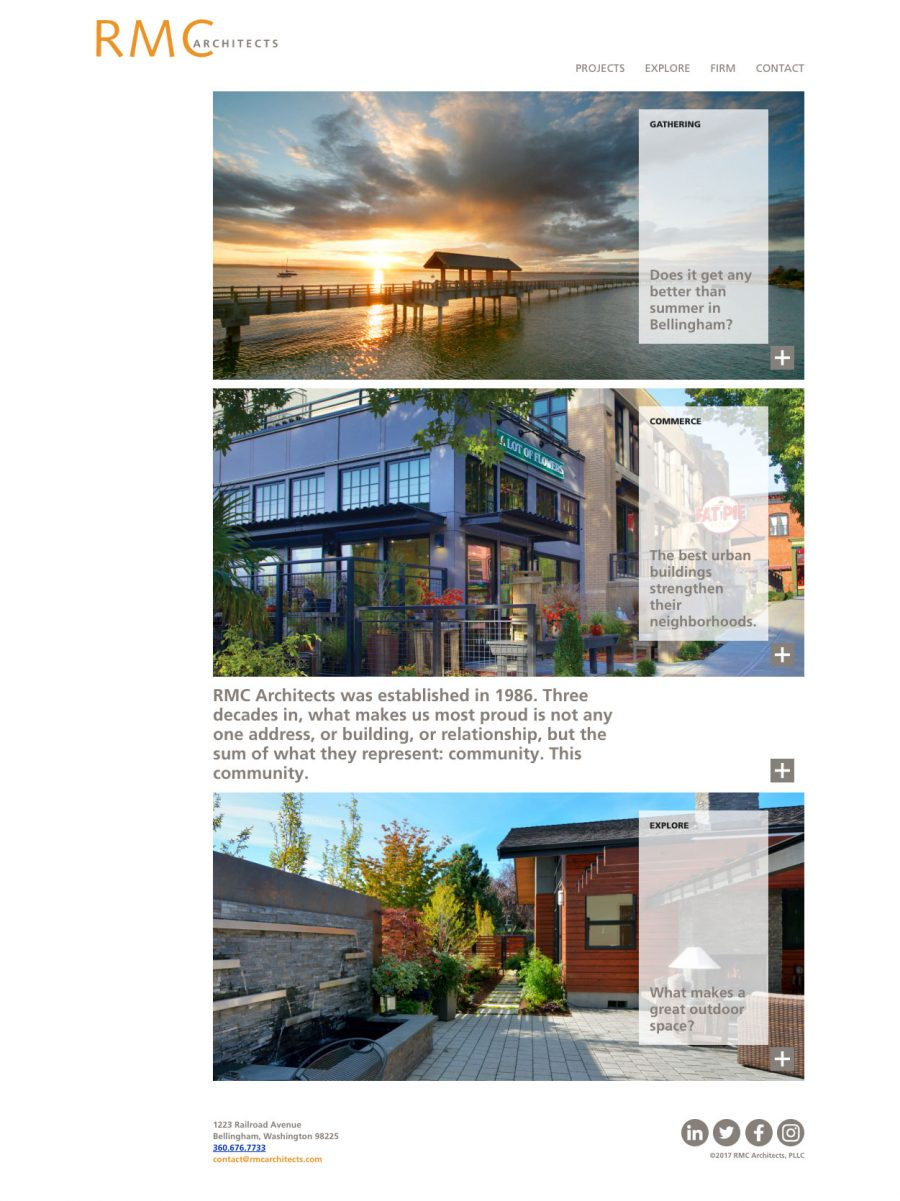 RMC Architects Homepage