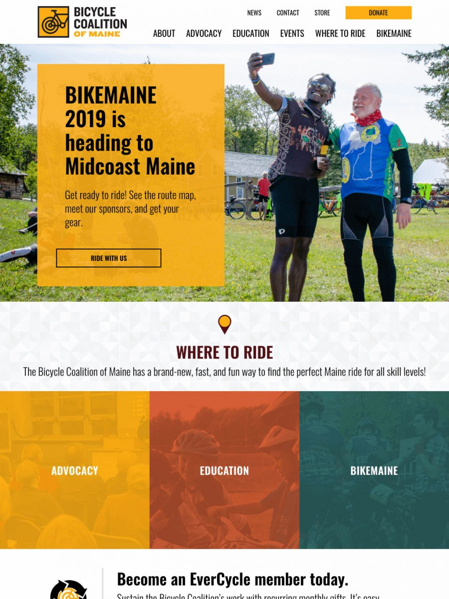 Bicycle Coalition of Maine Homepage