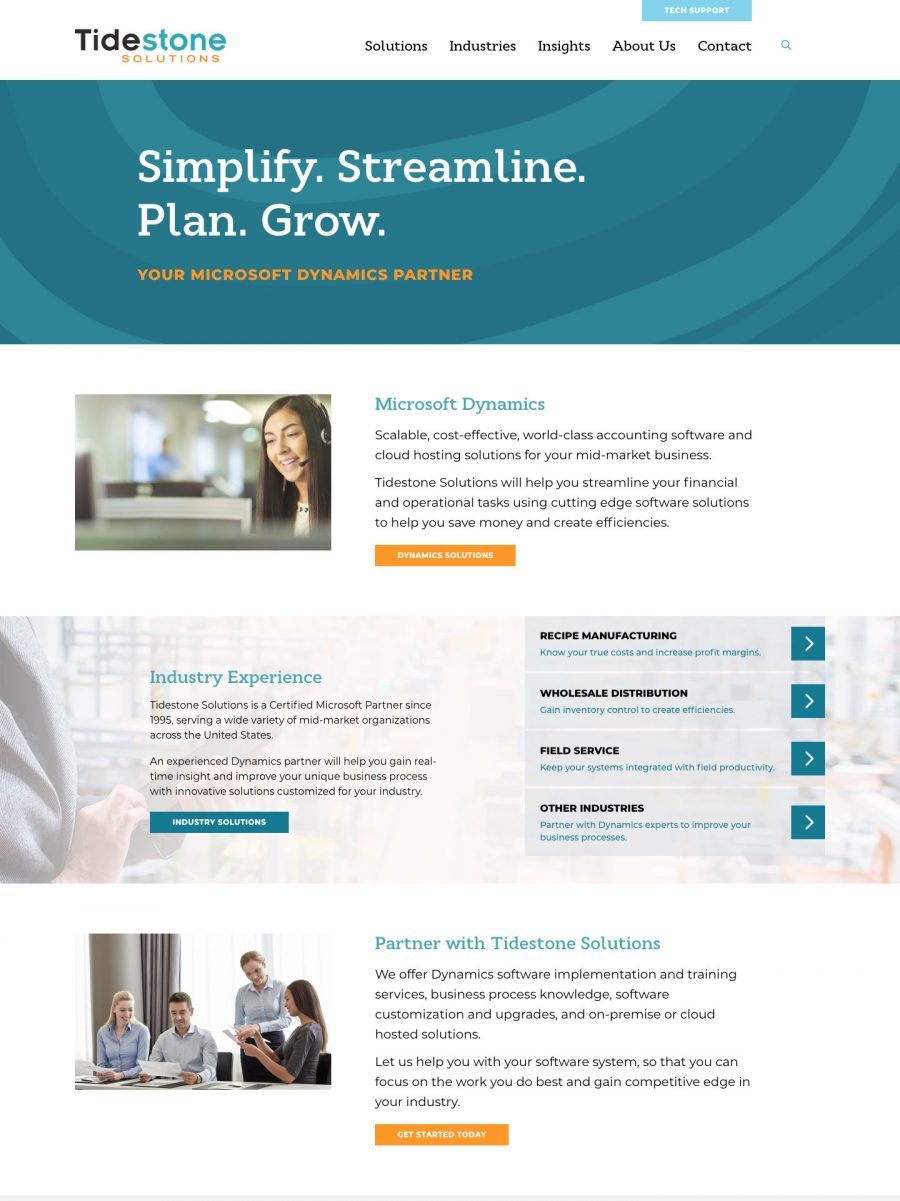 Tidestone Solutions Homepage