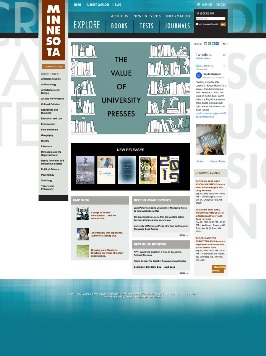 University of Minnesota Press Homepage